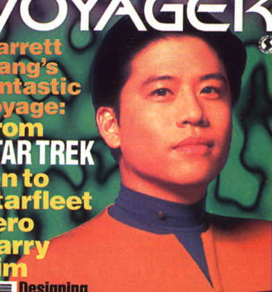 on  the cover of Voyager magazine #8